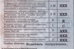 Удостоверение (права) тракториста-машиниста (оборотная сторона)